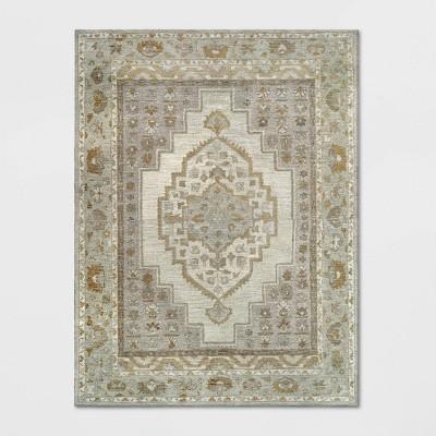 9'X12' Wool Tufted Geometric Persian Area Rug Cream - Threshold™
