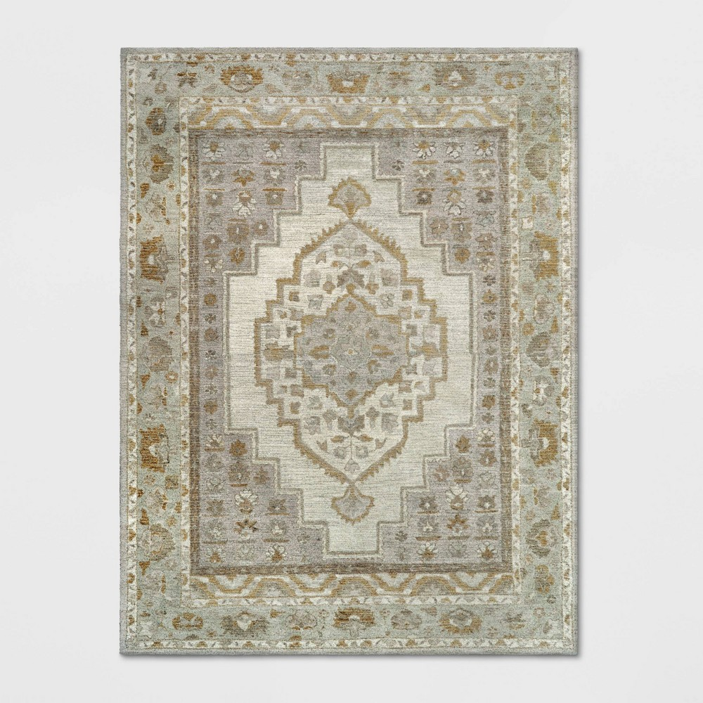 9'X12' Wool Tufted Geometric Persian Area Rug Cream - Threshold was $529.99 now $264.99 (50.0% off)