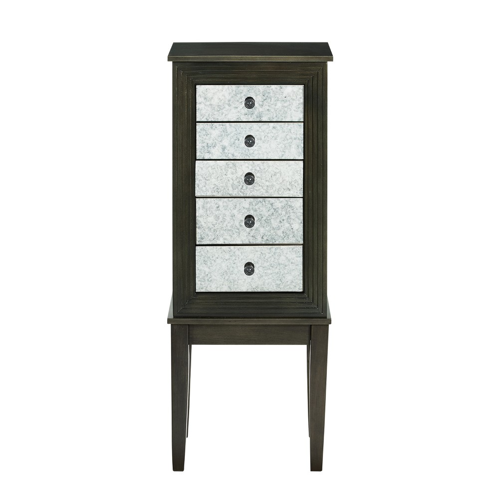 Phoebe Jewelry Armoire Dusk Shimmy - Powell Company, Brown