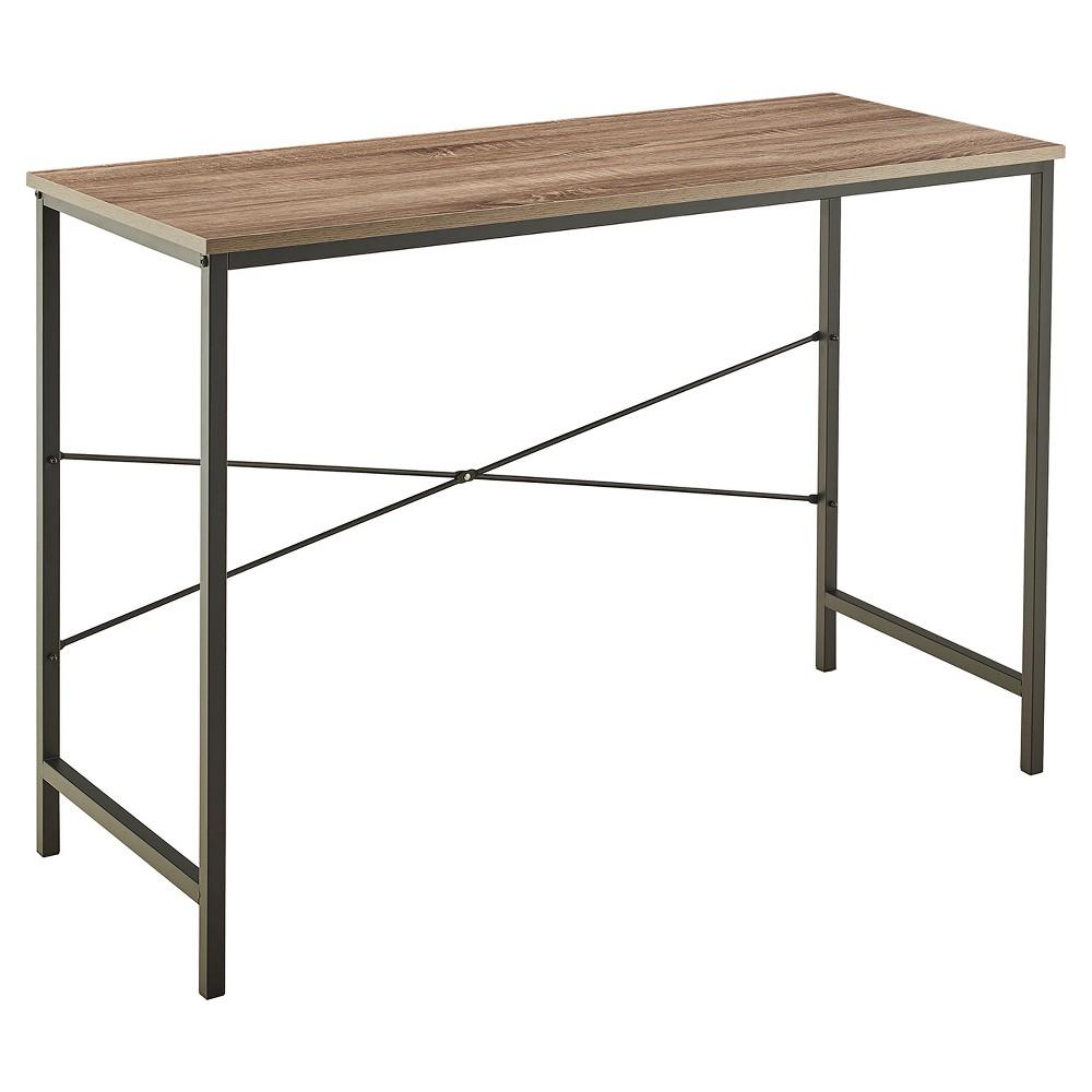 Desk Mixed Material Gray Closetmaid