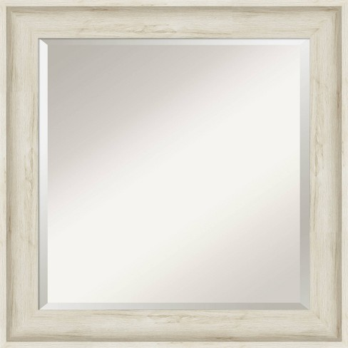 25 X 25 Regal Framed Bathroom Vanity Wall Mirror Birch Cream Amanti Art Target