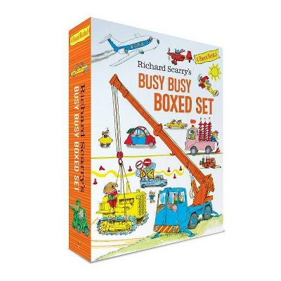 Richard Scarry's Busy Busy Boxed Set - (Richard Scarry's Busy Busy Board Books) (Mixed Media Product)