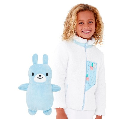 Cubcoats Toddler Benne the Bunny 2-in-1 Stuffed Animal & Sherpa Jacket