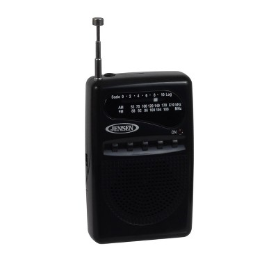 JENSEN AM/FM Pocket Radio - Black (MR-80)
