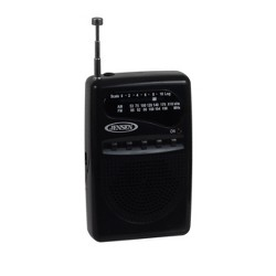 JENSEN AM/FM Pocket Radio - Black (MR-80)