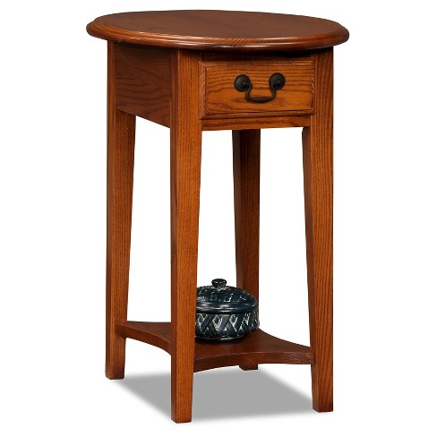 cb07aac794aef Shaker Oval End Table Oak - Leick Home   Target