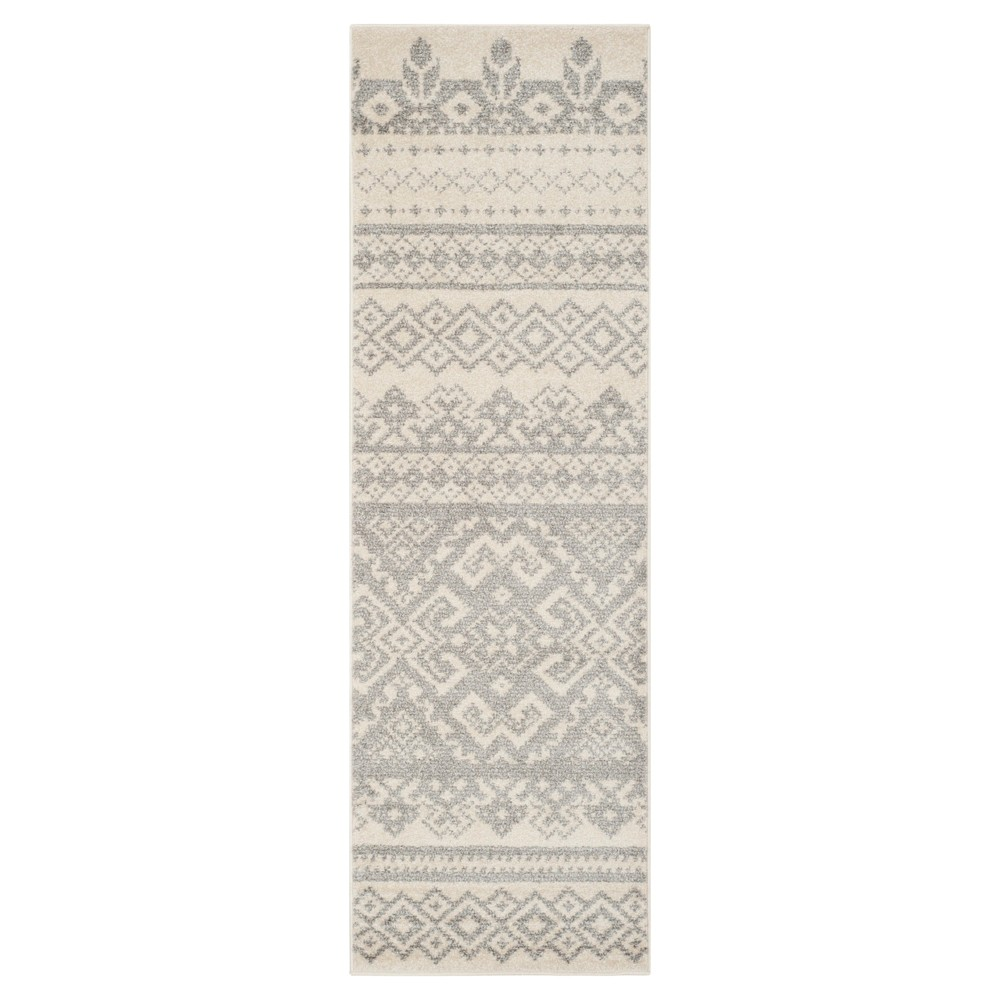 Adron Accent Rug - Ivory/Silver (2'6x6') - Safavieh
