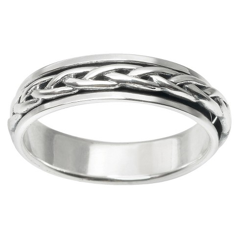 Men's Daxx Braid Spinner Band in Sterling Silver (5mm) - image 1 of 3