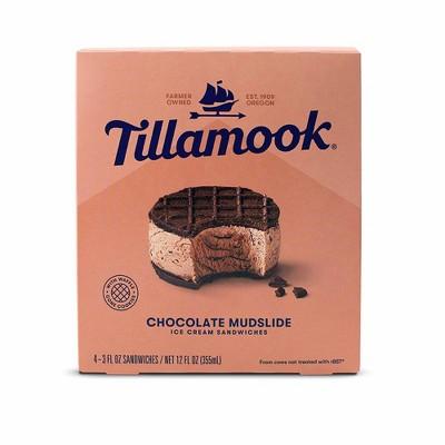 Tillamook Chocolate Mudslide Ice Cream Sandwich - 12oz/4ct