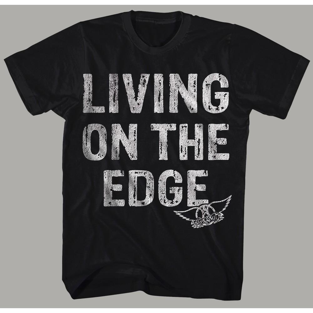 Men's Aerosmith Short Sleeve Graphic T-Shirt - Black 2XL