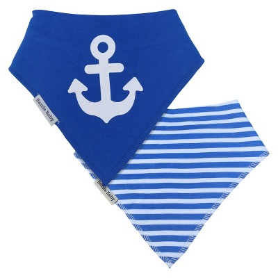 Bazzle Baby Banda Bib Set Anchor & Sailor - 2pk