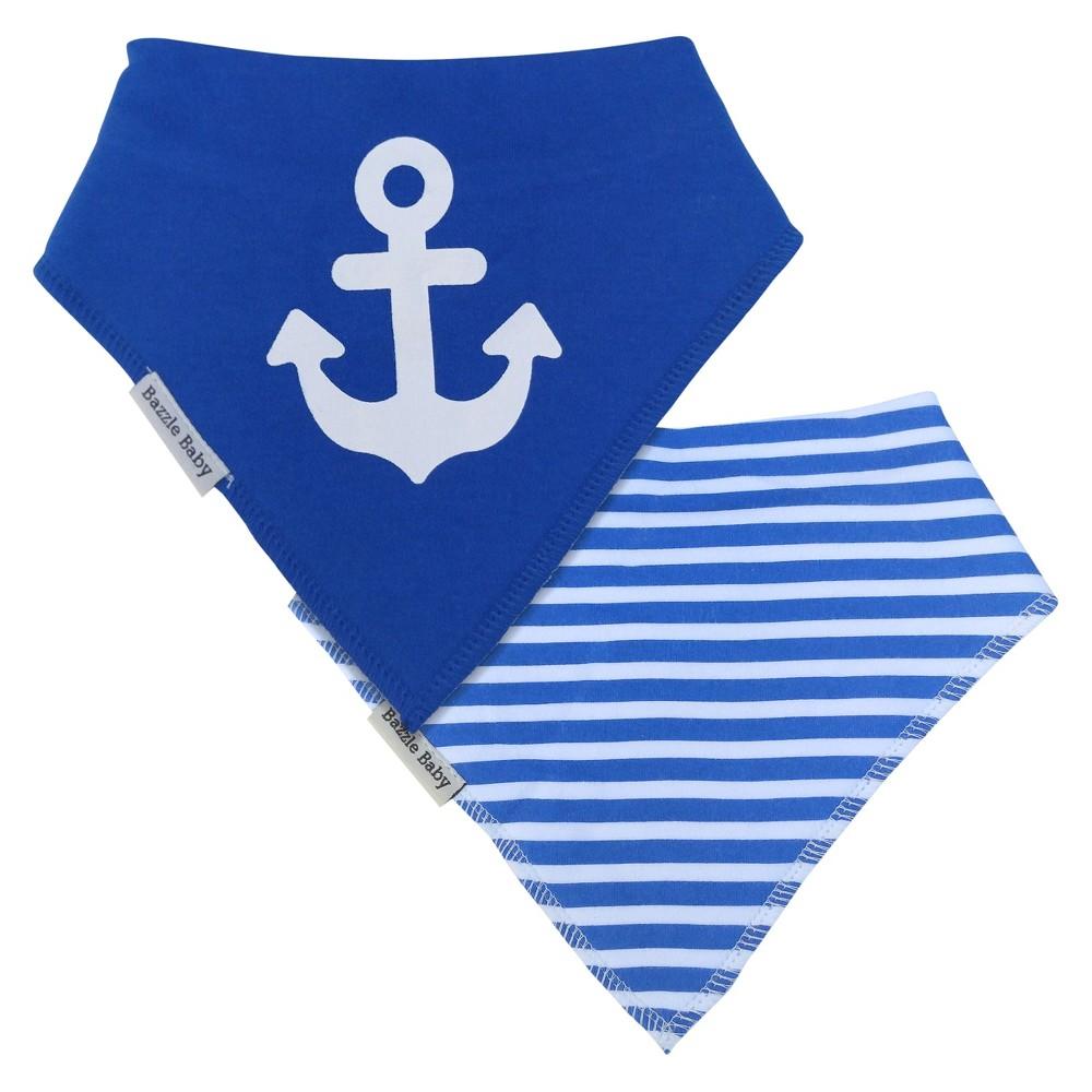 Image of Bazzle Baby Banda Bib Set Anchor & Sailor - 2pk, Blue