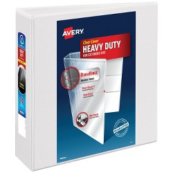 "Avery 3"" One Touch Slant Rings 600 Sheet Capacity Heavy-Duty View Binder - White"