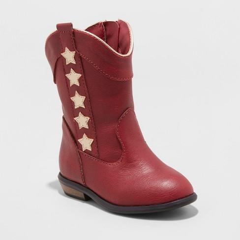 Toddler Girls' Anika Cowboy Boot with Metallic - Cat & Jack™ - image 1 of 3