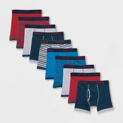 Hanes Boys' 7 + 3 Bonus Pack Ringer Boxer Briefs - Colors Vary