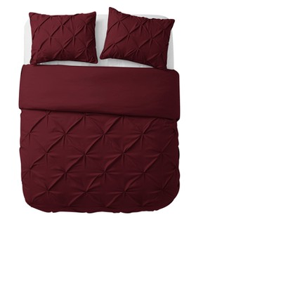 Burgundy Nilda Duvet Cover Set (Queen)- VCNY Home®