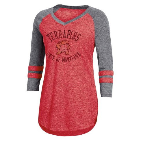 NCAA Women's 3/4 Sleeve V-Neck T-Shirt - Maryland Terrapins - image 1 of 2