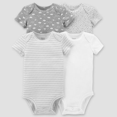 Baby 4pk Bodysuit Set - Just One You® made by carter's Gray 3M