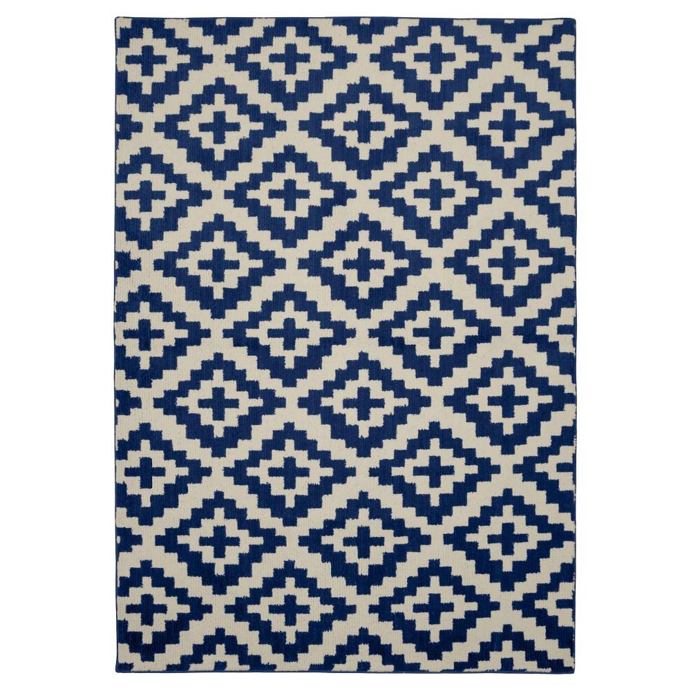 Garland Southwest Rug (5'X7'), Blue/Ivory