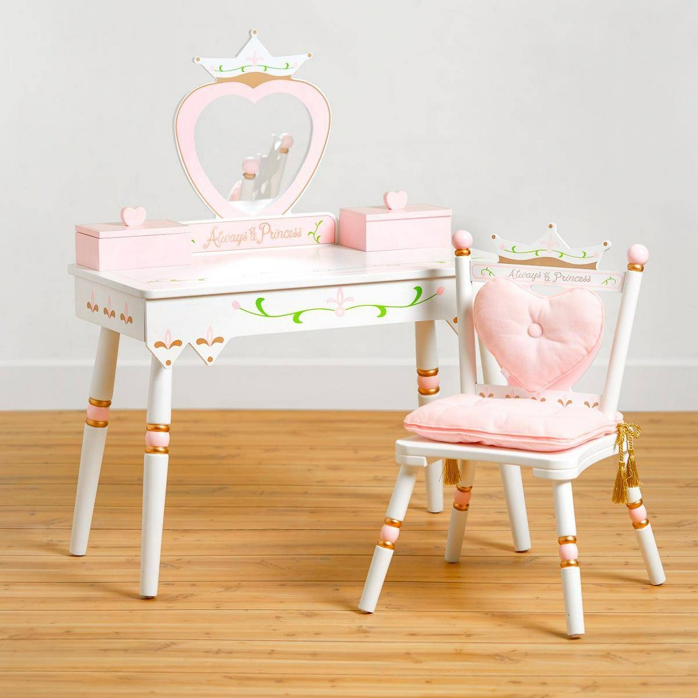 Image of Princess Vanity Table & Chair Set White - Wildkin