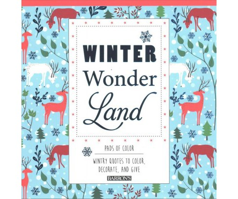 Winter Wonderland : Wintry Quotes to Color, Decorate, and Give -  (Paperback) - image 1 of 1