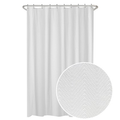 Herringbone Ultimate Shower Liner White - Maytex
