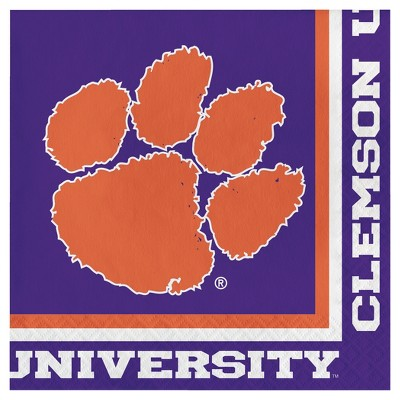 20ct Clemson Tigers University Napkins - NCAA