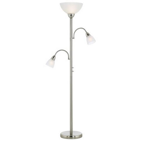 Possini Euro Design Modern Torchiere Lamp Adjustable Arm 3 Light