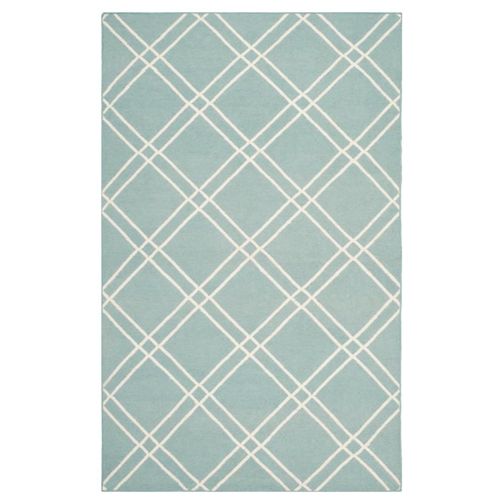 Dhurries Rug - Light Blue/Ivory - (4'x6') - Safavieh