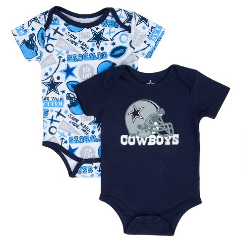 Dallas Cowboys Baby Boys 2 Pack Bodysuit Set Target