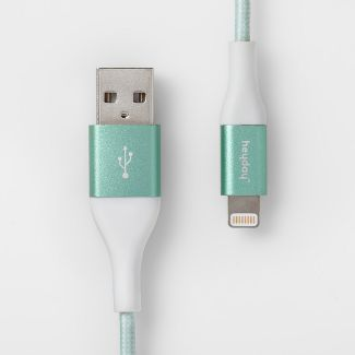 heyday™ Lightning to USB-A Cable 4ft - Teal/White