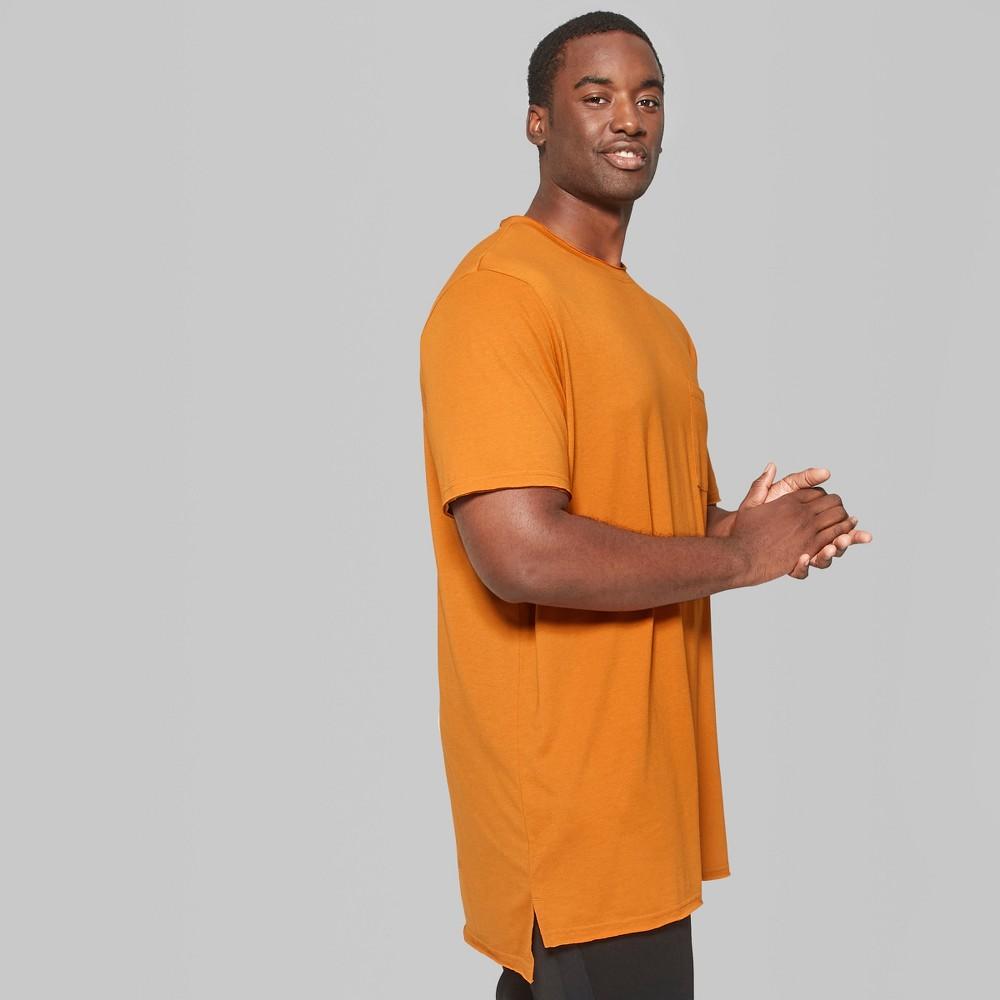 Men's Big & Tall Short Sleeve Long Line T-Shirt - Original Use Copper Ore 3XB, Orange