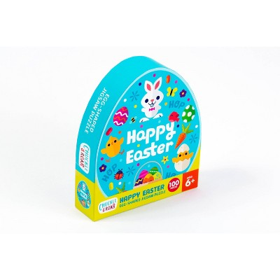 Chuckle & Roar Happy Easter Egg-Shaped Jigsaw Puzzle 100pc