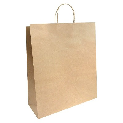 XLarge Solid Natural with White Polka Dots Gift Bag - Spritz™