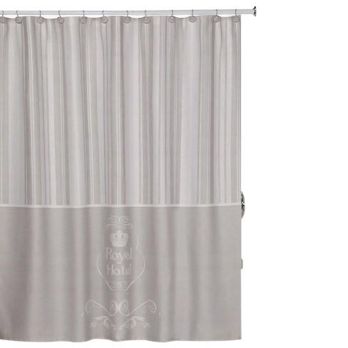 Creative Bath Shower Curtain royal hotel shower curtain taupe - creative bath® : target
