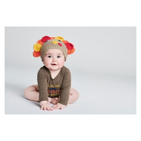 Babys  Thanksgiving Turkey Hat - Just One You® Made By Carter s Beige One  Size   Target ac77d36bf99