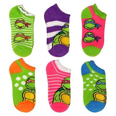 Girls Teenage Mutant Ninja Turtle 6-Pack Casual Socks