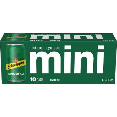 Schweppes Ginger Ale - 10pk/7.5 fl oz Mini Cans
