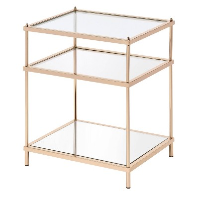Lindenham Glass Top Side Table - miBasics