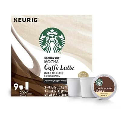 Starbucks Mocha Caffe Latte - Keurig K-Cup Pods - 9ct
