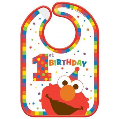 Birthday Express Sesame Street Elmo Turns One Vinyl Bib
