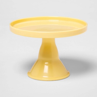 "4.5"" Plastic Cake Serving Stand Yellow - Spritz™"