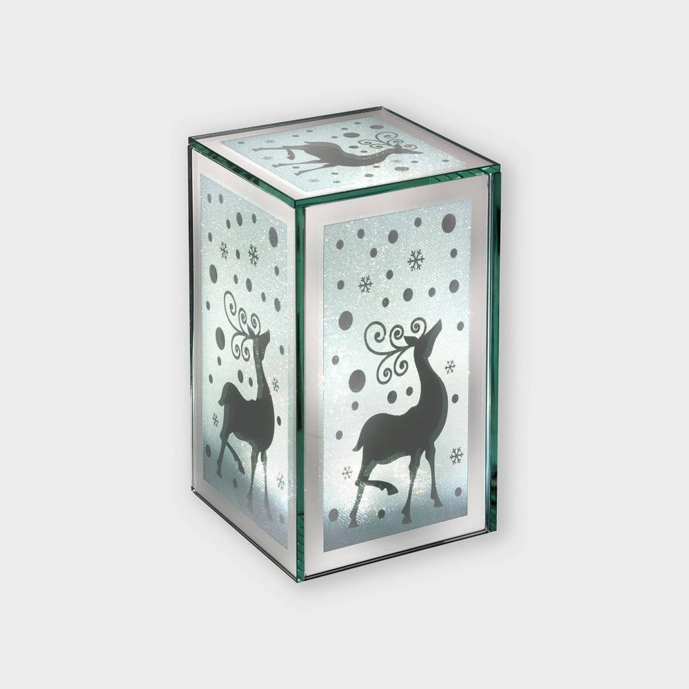 "Image of ""7"""" Lit Glass Lantern Decorative Figurine - Haute Decor"""