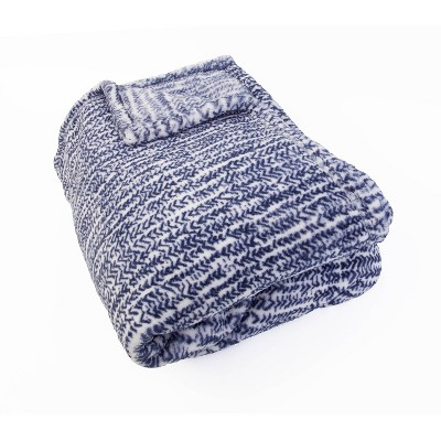 "50""x70"" Belinda Batik Printed Loft Fleece Decorative Throw - Décor Therapy"