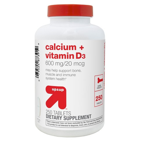 Calcium and Vitamin D3 Dietary Supplement Tablets - Up&Up™ - image 1 of 2