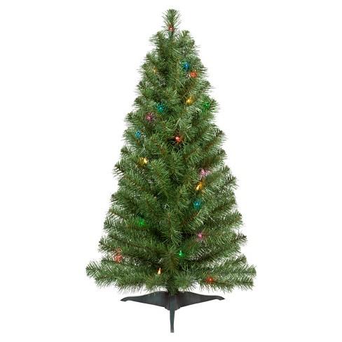 3ft Prelit Slim Artificial Christmas Tree Alberta Spruce Multicolored  Lights - Wondershop™ - 3ft Prelit Slim Artificial Christmas Tree Alberta... : Target