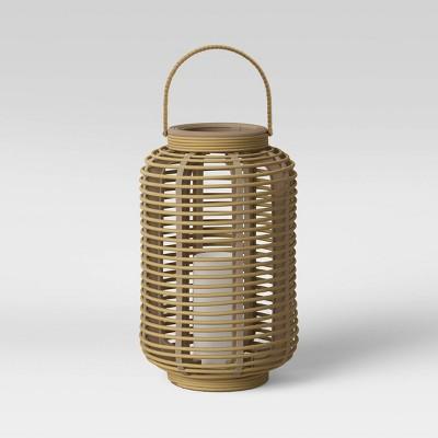 Resin Outdoor Lantern Natural - Threshold™