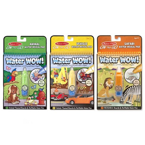 Melissa & Doug On the Go Water Wow! Water-Reveal Activity Pads Set - Vehicles, Animals, Safari - image 1 of 4