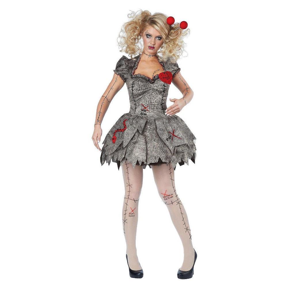 Women's Voodoo Dolly Costume M, Gray