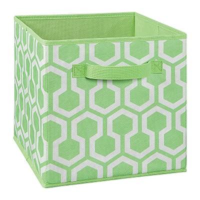 ClosetMaid 184300 Nonwoven Polypropylene Fabric Multiple Item Spacious Storage Organizer Cube with Two Handle Design, Green Hexagon